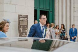 Llegada del novio, fotógrafo de boda en Valladolid