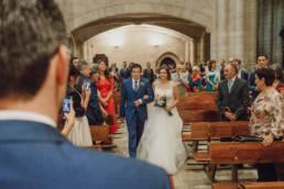Llegada de la novia, fotógrafo de boda en Valladolid